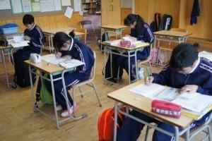 1年生教室の英語の学習